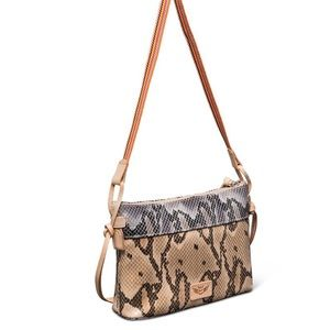 Margot Creme Snake Crossbody